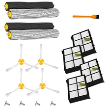 Replenishement Kit For Irobot Roomba 800 900 Series,Replacement Parts With 4 Extractors 4 Filters 4 Side Brushes & Screws 5x side brushes 5x filters replacement for irobot roomba 800 900 860 880 980 960 870 robotic cleaner parts accessories