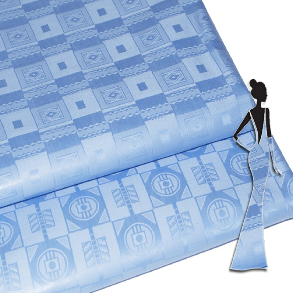 Tissu Jacquard robe bazin riche getzner qualité brocart bassin brode parfumé guinée brocart pour hommes ou femmes tissu 5 yard/lot