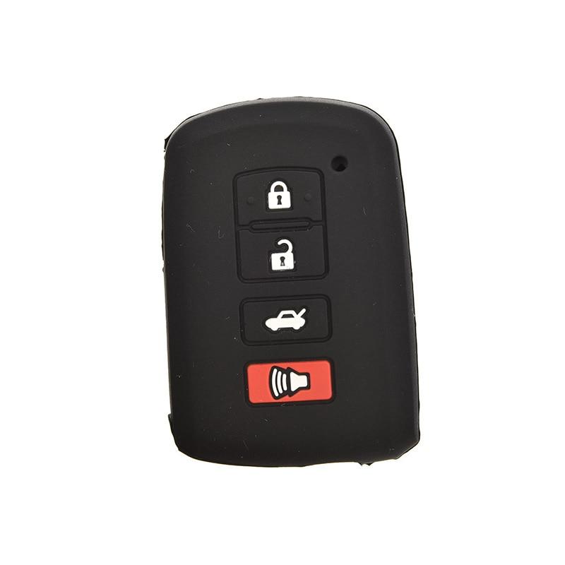1 StÜck Auto Zubehör 4 Knopf-fern Smart Key Shell Silikon Hülle Für Toyota Camry Rav4 Avalon Schwarz Farbe Seien Sie In Geldangelegenheiten Schlau