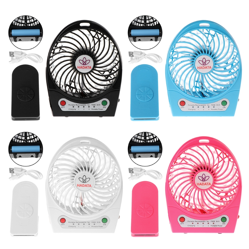 9W Clip Portable LED Outdoor Cooling Fan Rechargeable 18650 Battery USB Output