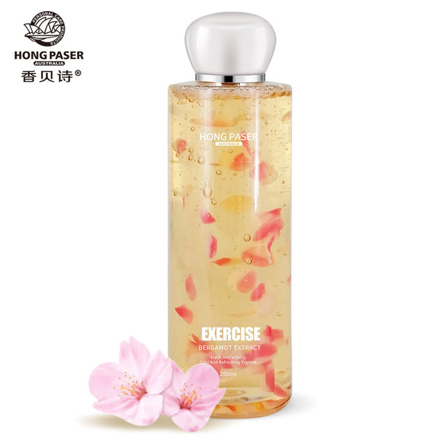 HONG PASER Fragrant Shower Gel Moisturizing Flower Petals Bath Body Care