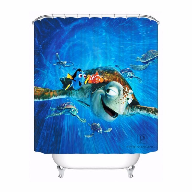 Best Selling Bathroom Product Print Cute Cartoon Finding Nemo Pictures Shower Curtain Waterproof For Children