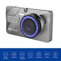 A10 Full HD 1080 P Double Objectif Véhicule Boîte Noire De Voiture DVR 4 pouces 170 Degrés Vue Grand Angle Enregistrement En Boucle de Détection de Mouvement Top Vente