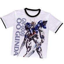 Japanischen Anime GUNDAM T-shirt Weiß Polyester T-shirt Sommer T-shirt Aktiven Animation Männer Frauen Kleidung
