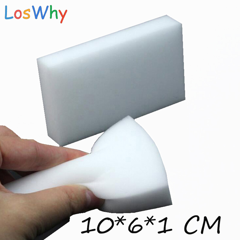 500 pcs/Lot  White Magic Sponge Eraser Melamine Sponge Dish Bathroom Cleaning Eco-Friendly Kitchen Magic Cleaner 10*6*1CM