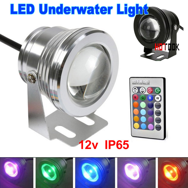 12V Outdoor Lighting 10W LED Floodlight Lamp Underwater IP65 Light landscape licht with Convex Glass warranty 2 years CE x 10pcs
