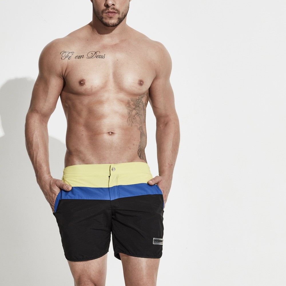 Men's Bold Striped Sports Beachwear Board shorts Soft Swimwear