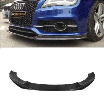 Carbon Fiber Car Front Bumper Spoiler Lip, Auto Car Diffuser For Audi A7 S7 RS7 Sline 2013 2014 2015 2016 2017 2018