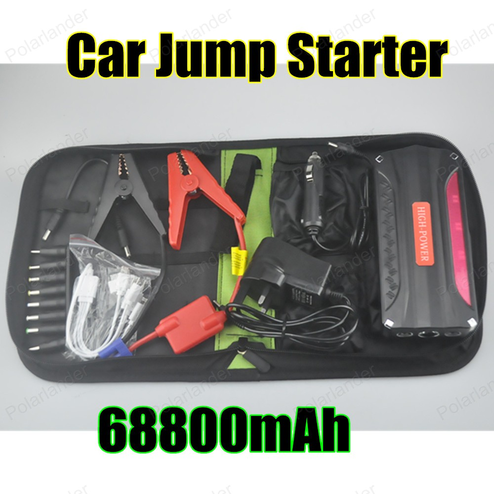hot sell for Petrol and Diesel 12V portable mini jump starter 68800mAh red car jumper charger