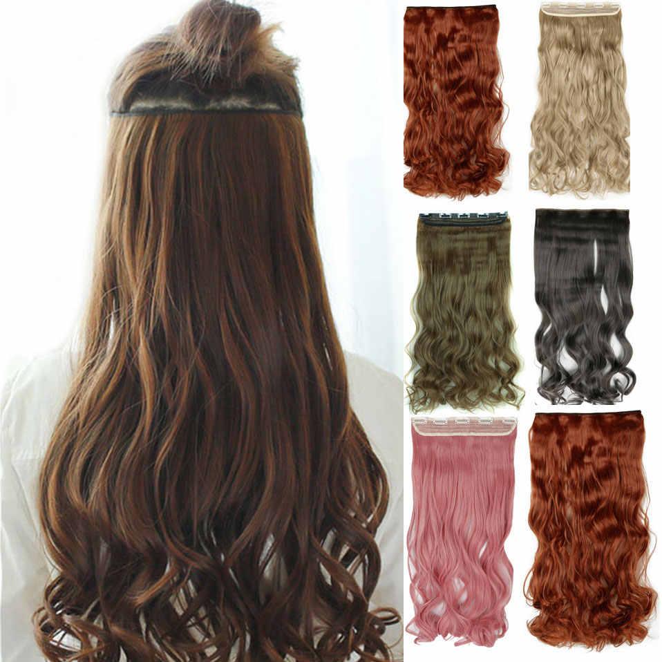 """S-noilite 24 """"цельный зажим в одной части длинные волнистые вьющиеся Женские синтетические волосы кусок высокотемпературный волос красный розовый"""
