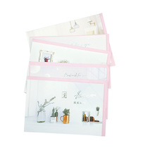 1pack/lot Greeting Card With Pink Envelope Deeply Blessing Large Universal Random Party Favor Travel Supply