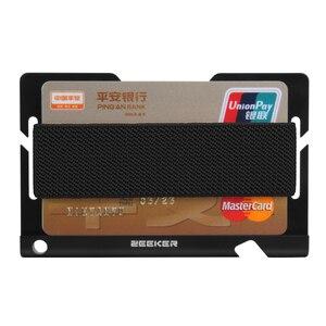 Image 3 - ZEEKER aluminiowa przednia kieszeń na karty etui na dowód Slim Metal mały portfel męski portfele