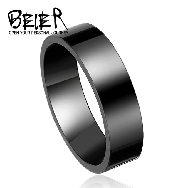 Cool Men Silver Color Stainless Steel Ring High Polished Fashion Wedding Ring