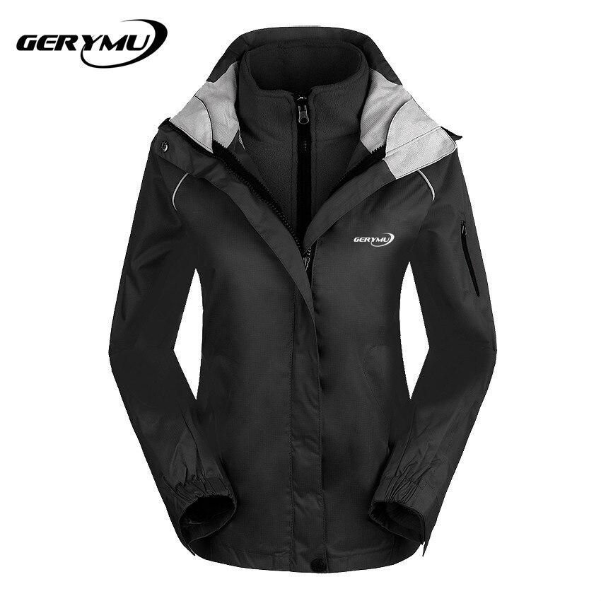 Women Outdoor Winter warm Soft Shell Ski Coat Two Sets Fleece Windbreaker Waterproof Hunting Hiking Camp Climbing Jacket