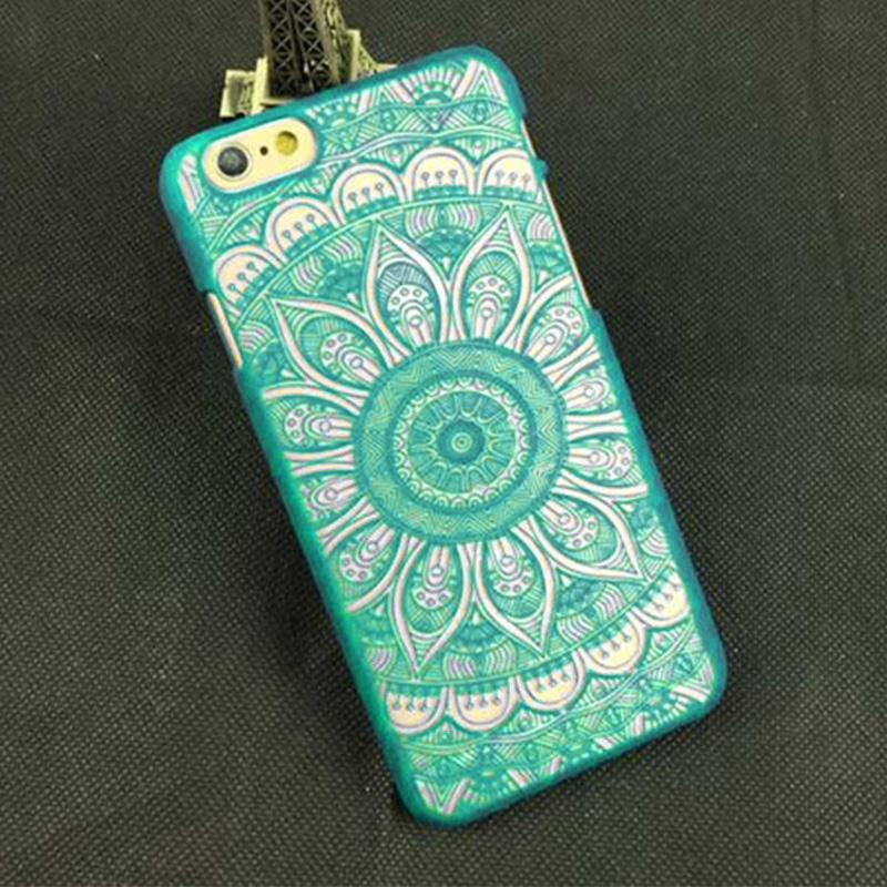 Brand New Beautiful Floral Palace Sunflower Mandala Acr Palace Flower Phone Cases Screen Protector Cover For iPhone 7 plus