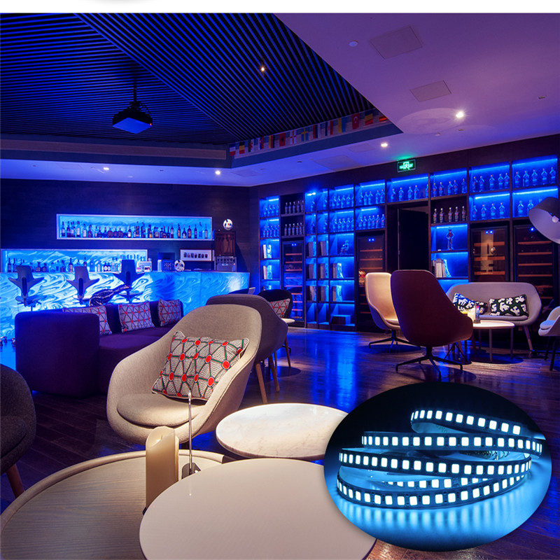 LED Strip DC12V Ribbon Tape 5M 600 LED 5054 LED Strip Light Brighter Than 5050 Cold White Warm White Blue Pink Geen Dropshipping in LED Strips from Lights Lighting