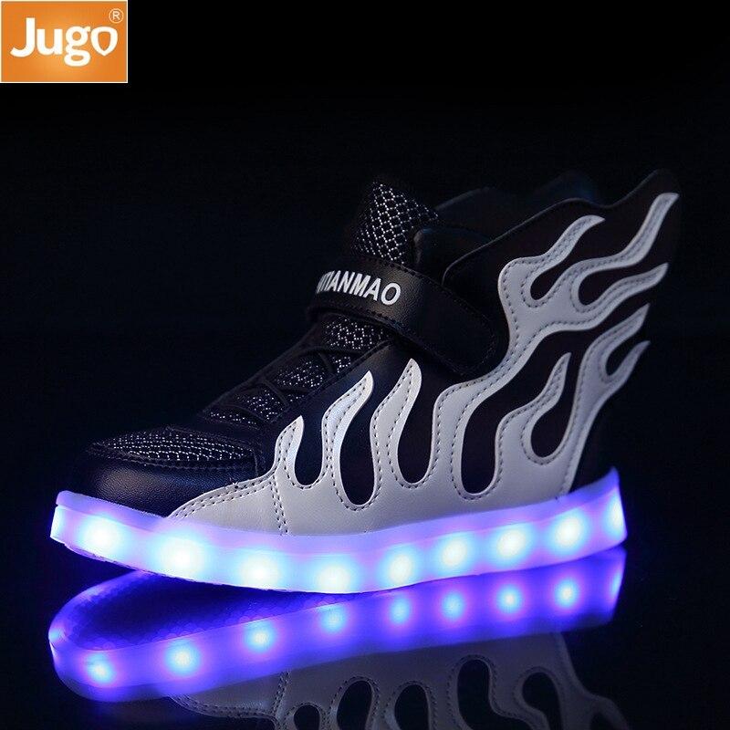 Neue kinder Schuhe Mädchen Casual Flügel Schuhe USB Lade