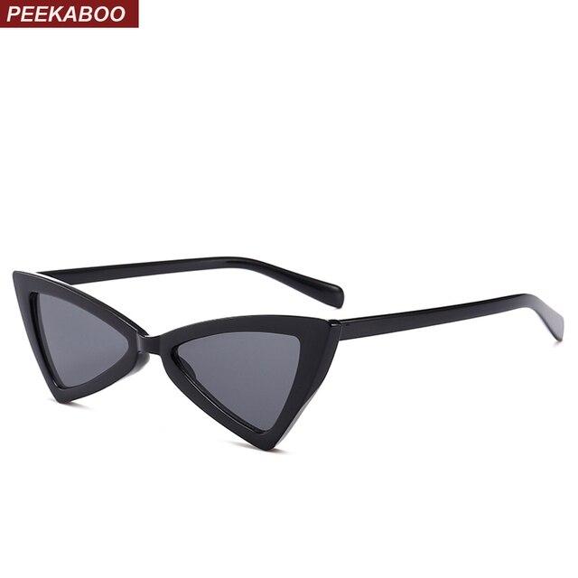 fb76d91f8fb Peekaboo red triangle sunglasses women cat eye vintage black leopard cheap  butterfly sun glasses female new year gift 2018
