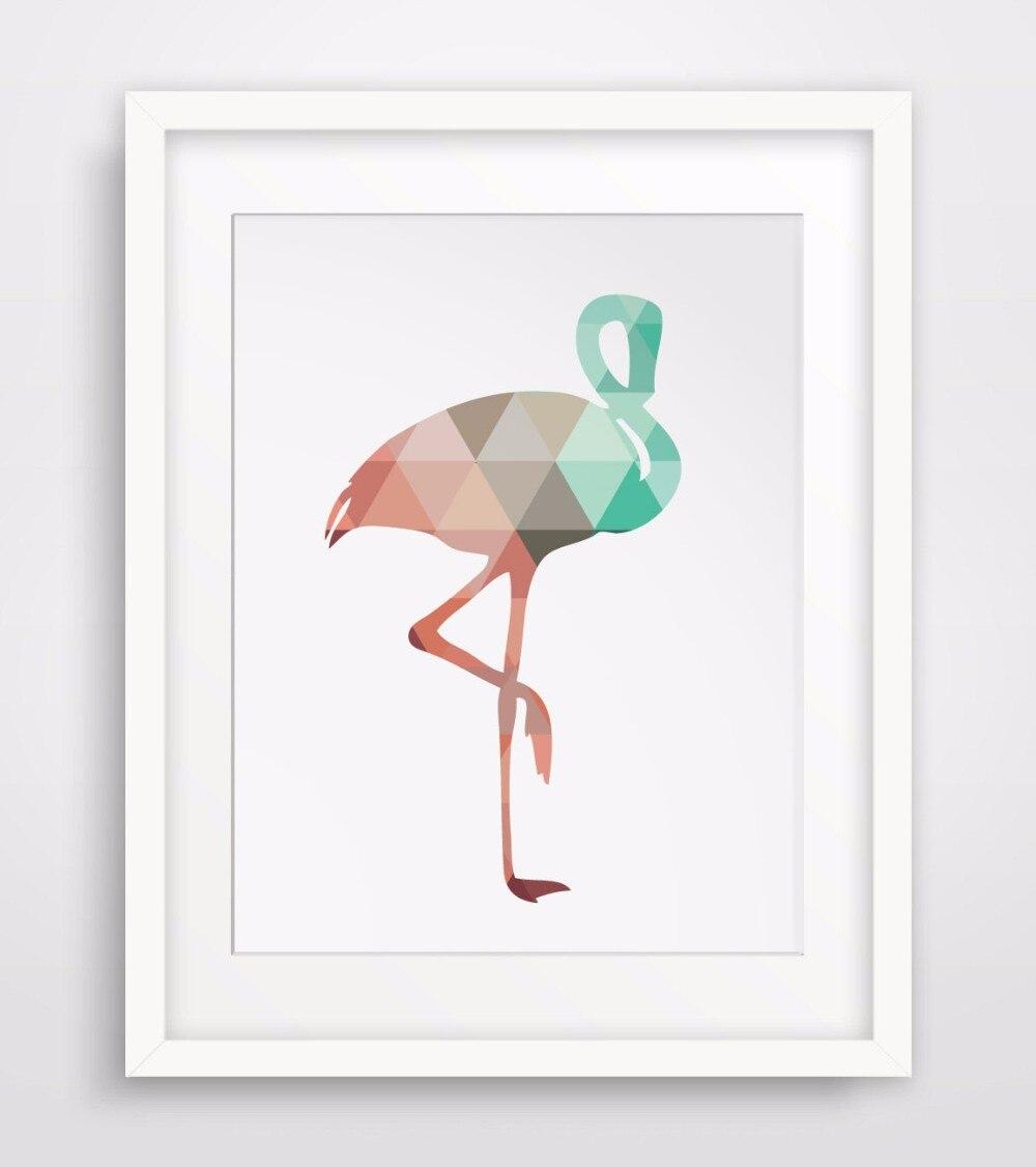 ᗐFlamingo CALIENTE Colorido Cartel de la Lona Impresión Del Arte ...