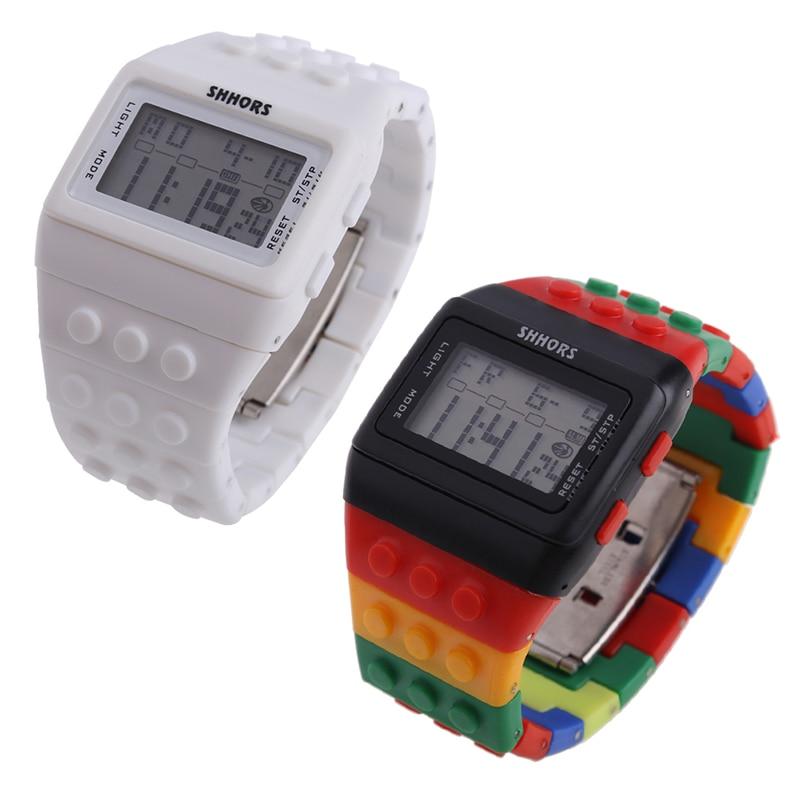 Hot Children's Watches Digital LED Chic Unisex Colorful Constructor - Barneklokker - Bilde 6