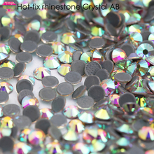 RESEN Glass Hot fix Rhinestones Iron On Crystal AB For Clothes SS3-SS40 back Hot-fix Flatback