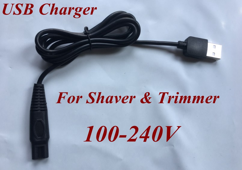 100V-240V Global Voltage Usb Charger Trimmer Men EU Plug Charge For Philips Electric Shaver RQ1050 RQ1051 RQ1052 RQ1053 Hq3