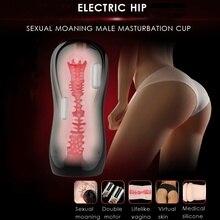 Leten 3 Dual motor Vibration  USB chargin Intelligent sexual moaning Electric Masturbator cup,Artificial Vagina Sex Toys for Men