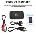 Bluetooth Wireless Audio Bluetooth Receiver and Transmitter with 3.5MM Audio Input and Output for TV MP3 PC