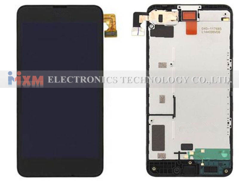 Black For Nokia Lumia 630 635 Touch Screen Digitizer + LCD Display Digitizer Assembly With Frame Free Shipping чехол из натуральной кожи для nokia lumia 630 635 красный кроко abilita