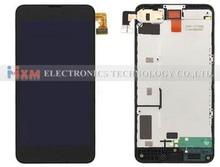 Negro para Nokia Lumia 630 635 pantalla táctil digitalizador + LCD Display digitalizador asamblea con marco envío gratis