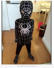 Fantasia Halloween Lycra Spandex Zentai Spiderman Child Costume Men Boy Black Spiderman Costume For Kids