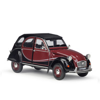 1:24 Scale Metal Alloy Classic Car Diecast Model CITROEN 2CV 6 Charleston Toy Collection Toy for Kids Gifts