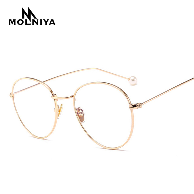 66c9c10f0604 2019 Retro Eound Eyes Glasses Frame Men Women Big 2017 Fashion Computer  Unisex Vintage Nerd Glasses