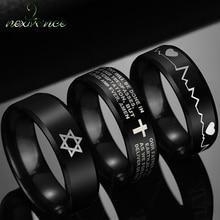 Finger-Ring Biker-Jewelry David Star Hexagon Tungsten Metal Nextvance of