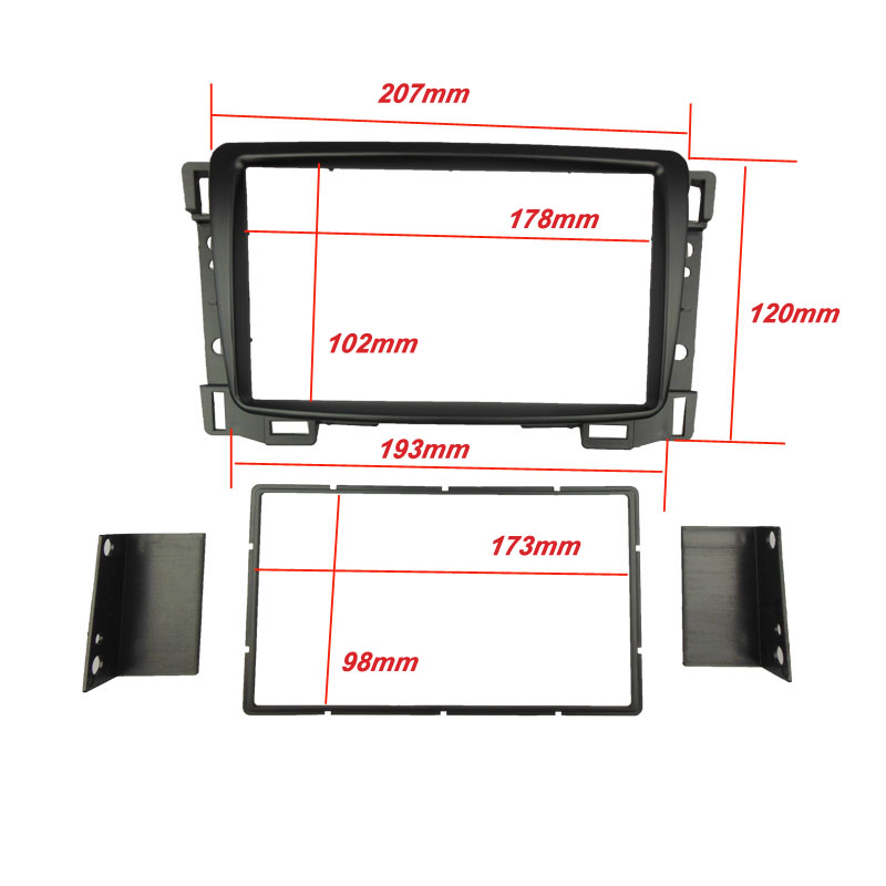Double Din Fascia for Chevrolet Sail Radio Stereo Panel Trim Kit DVD Refitting Installation Dash Mount CD Frame