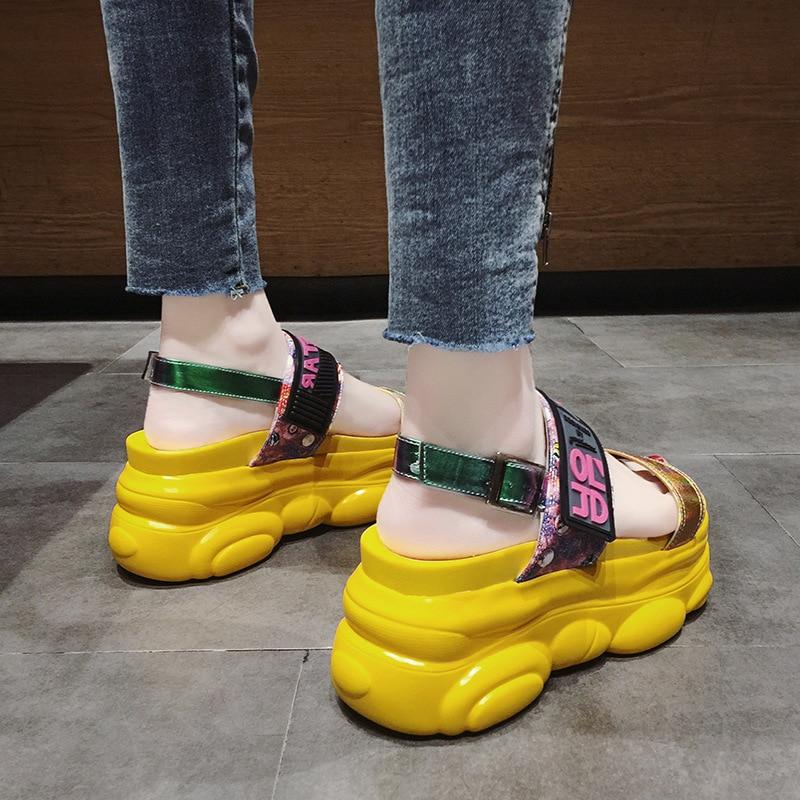 2019 New Summer Women Sandals High Heel Platform Ladies Shoes Summer Beach Sandals Red Women Casual Shoes sandalias mujer 56