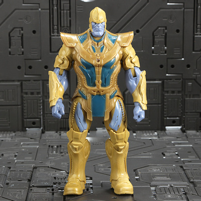 Marvel Мстители 3 Бесконечность войны фильм Аниме Супер Герои Капитан Америка, железный человек, Халк Тор супергерой Фигурки игрушки - Цвет: Thanos 2