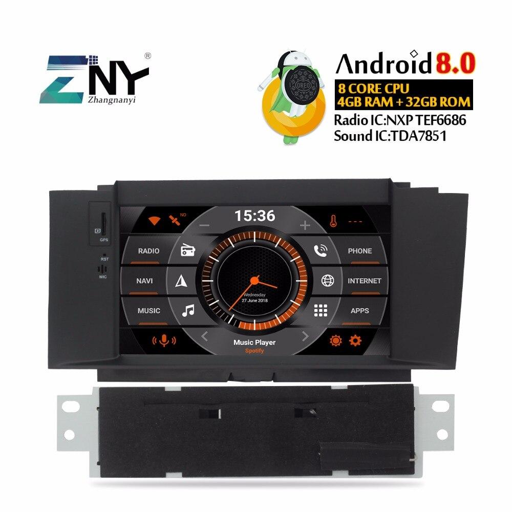 7 Android 8.0 Voiture GPS Stéréo Pour Citroen C4 C4L DS4 2011 2012 2013 2014 2015 auto-radio FM DVD vidéo WiFi Navi caméra de recul