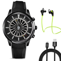 2017 mejor lemfo lem5 smart watch teléfono con mtk6580 1 gb de ram 8 GB ROM Soporte 3G WiFi Nano Tarjeta SIM GPS bluetooth Smartwatch