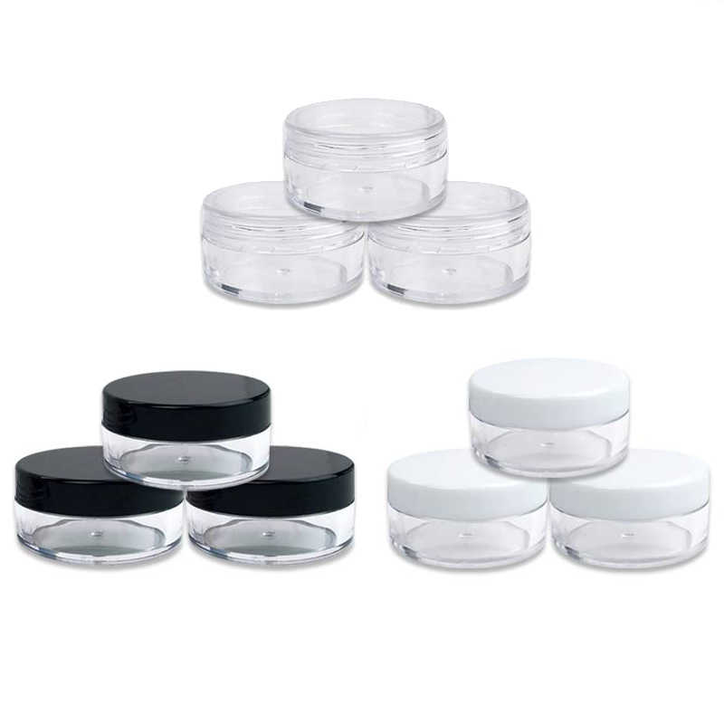 5Pcs 2g 3g 5g Lip Balm Container Portable Plastic Cosmetic Empty Jars Clear Bottles Eyeshadow Makeup Cream Pots