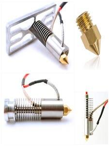 MK8 Nozzle Filament-Head Printers-Parts Copper Extruder Brass 3D MK7 Threaded