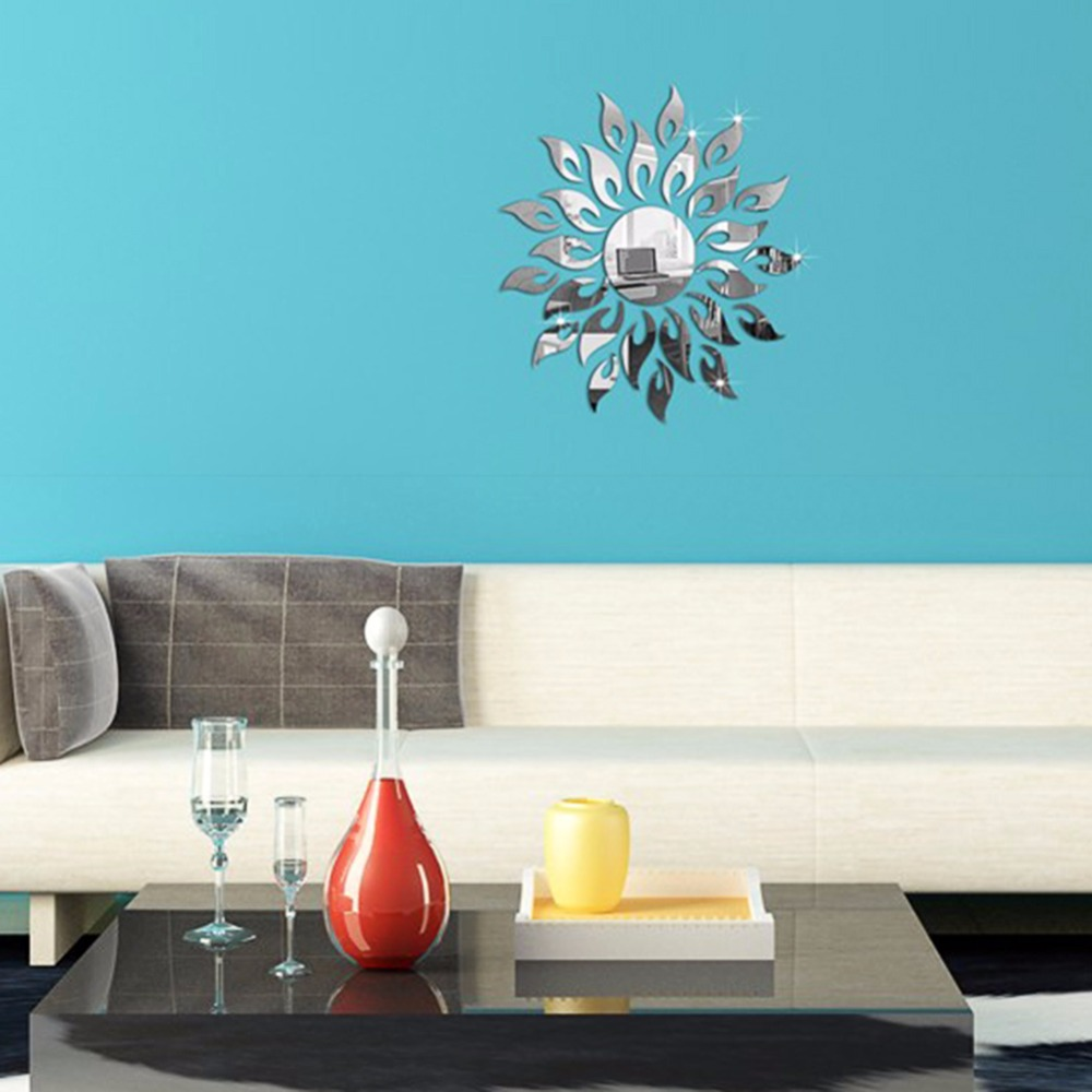 Mirror Wall Decor For Living Room Flower Mirror Wall Decor Promotion Shop For Promotional Flower
