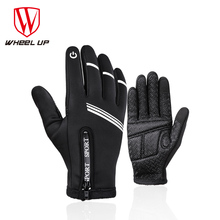 WHEEL UP Cycling Touch Screen Gloves Full Finger Thermal Sport Shockproof MTB Road Bike Motorcycle Glove Man Bicycle Equipment
