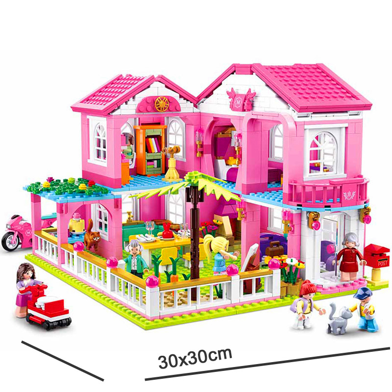 SLUBAN-0721-City-Girl-Friends-Big-Garden-Villa-Model-Building-Blocks-Brick-Compatible-LegoIN-Technic-Playmobil (4)