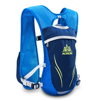 AONIJIE Outdoor Trail Running Marathon Riding Hydration Backpack Lightweight Sport Bag With Water Bottle Pouch