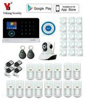 Yobang безопасности Беспроводной GSM & WI FI умный дом охранной сигнализации Наборы инфракрасный движения Сенсор оповещения двери с приложением У