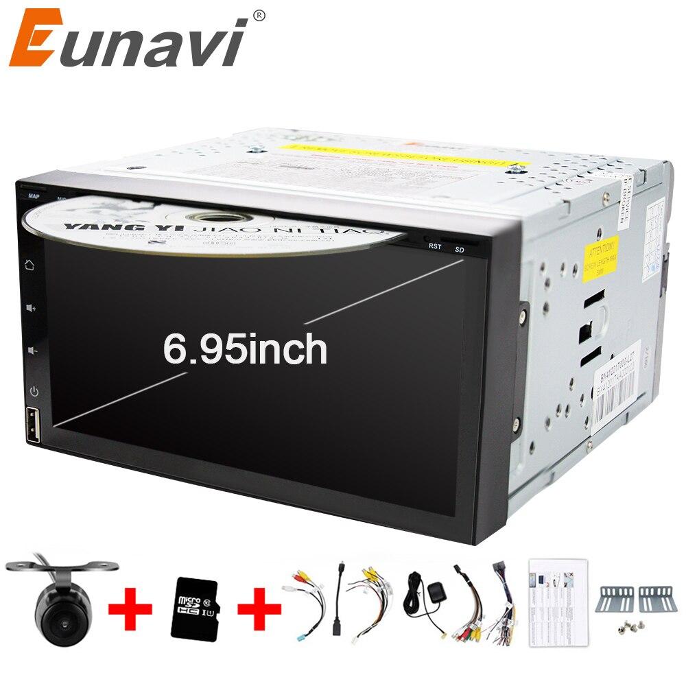Eunavi Quad Core 2 din android 7.1 lettore dvd dell'automobile 2din universale GPS Navigation audio stereo radio con WIFI + bluetooth + camera