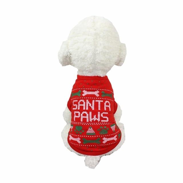 Beaux vêtements de noël pour animaux de compagnie Polyester chaud automne hiver chien manteau chemises animaux de compagnie Costumes de noël vêtements pour petits chiens Chihuahua