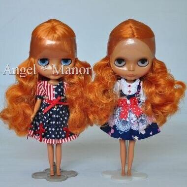 Обнаженная Блайт Кукла, с темно-бордовый вьющиеся волосы, Темная кожа, для девушки Подарок, HP008