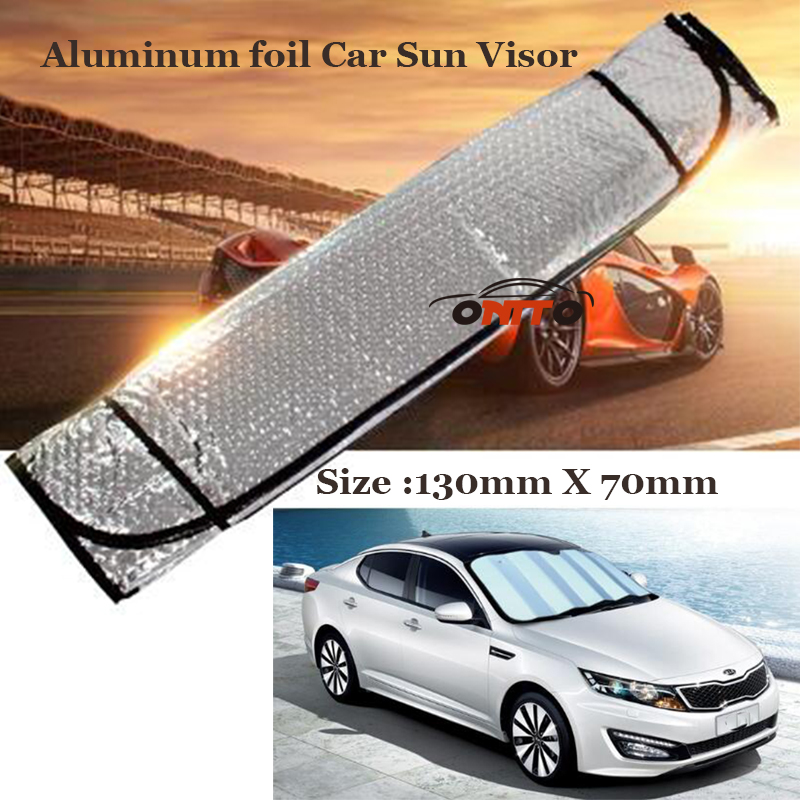 1pcs Good Quality Aluminum foil Car Sun Visor Front Window Screen Anti UV All Car Series Auto Visor Head windshield sunshade ...
